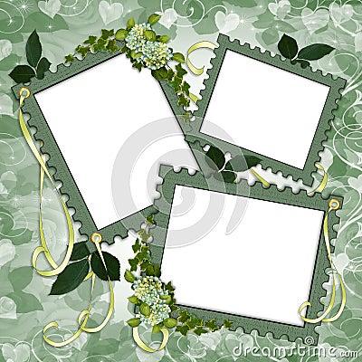 Scrapbook page Floral border frames