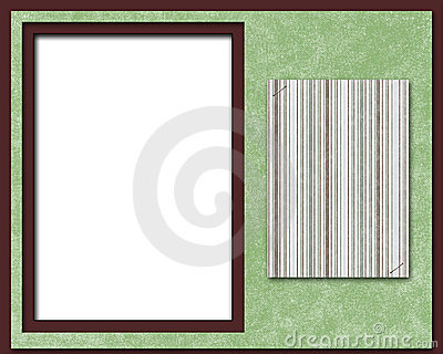 Scrapbook page, frame or card