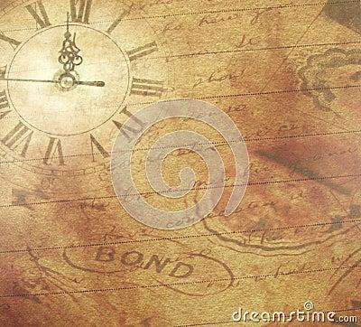 Scrapbook Paper Clock Stock Image Image 12653411