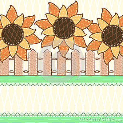 Scrapbook styled card with sunflowers