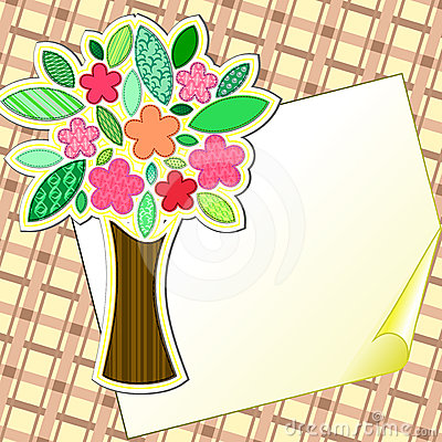 Scrapbook styled tree