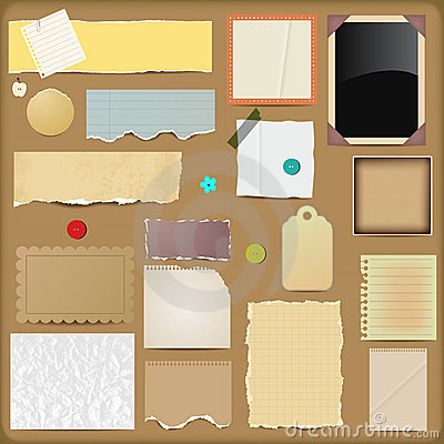 Scrapbooking Elements - Papers Stock Photos - Image: 21887853