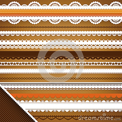 Scrapbooking Set: Ornate ribbons