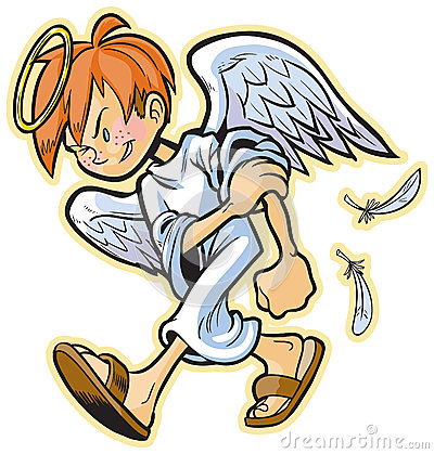 Scrappy Angel With Red Hair Vector Cartoon Stock Photos ...