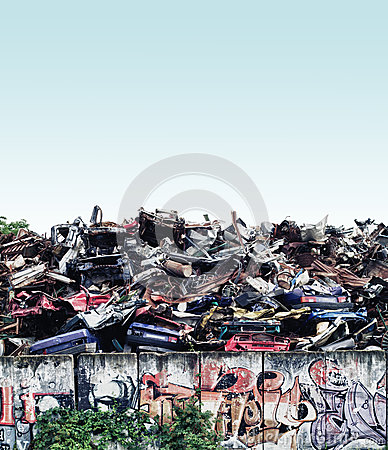 Scrapyard Editorial Stock Image