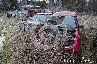 Scrapyard for cars (wrecks car)