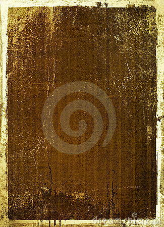 scratch background with gold edging