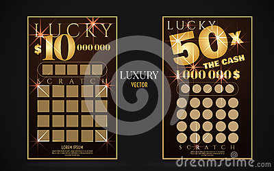 Scratch Lottery Ticket Vector Design Template Vector Image – Winning Ticket Template