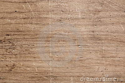 Scratched wooden table