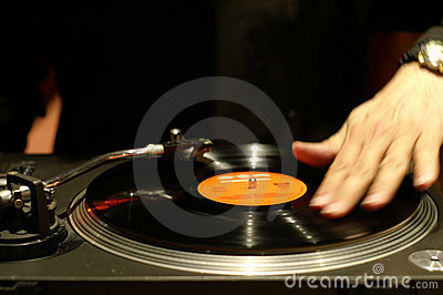 Scratching The Record Stock Images Image 640364