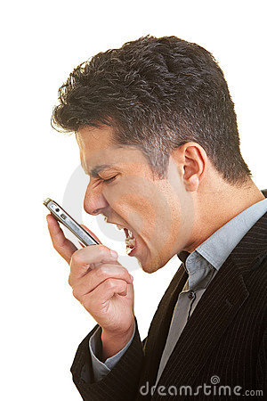 Free Scream In Cell Phone Stock Images - 10320144