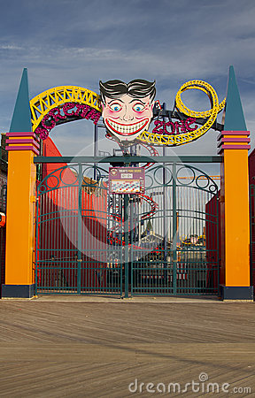 Scream Zone Entrance Editorial Photo
