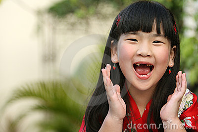 Screaming Asian Child