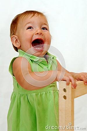 Screaming baby girl