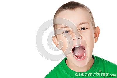 Screaming boy