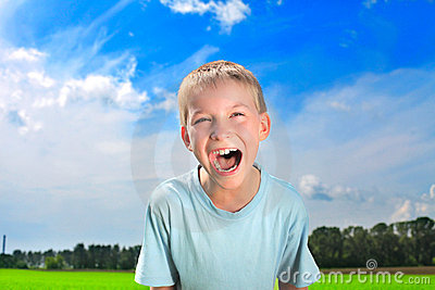 Screaming boy