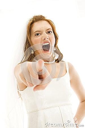 Screaming bride.