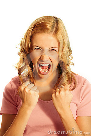 Free Screaming Business Woman Stock Images - 3006604