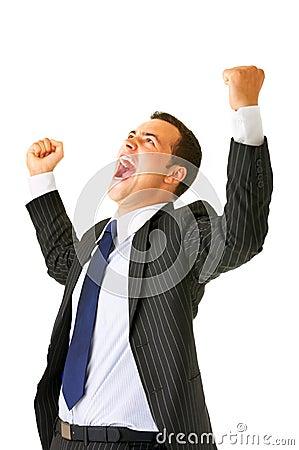 Screaming businessman