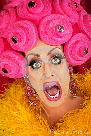 Screaming Drag Queen Close up