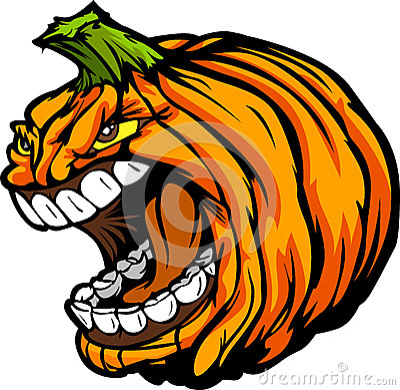 Screaming Halloween Jack-O-Lantern Pumpkin Head