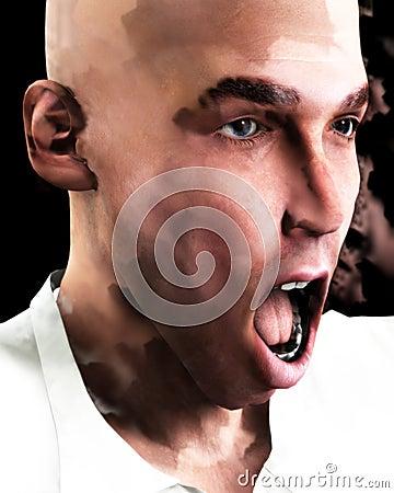 Screaming Man 6
