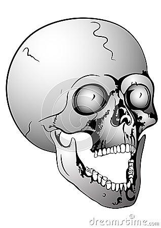 Screaming skull