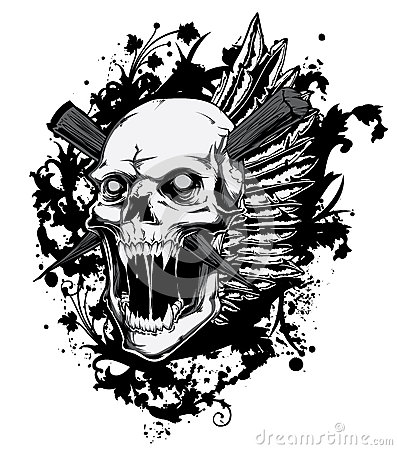 Free Screaming Skull Royalty Free Stock Images - 33536219