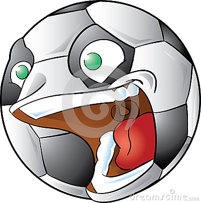 Screaming soccer ball