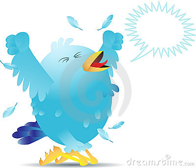 Screaming twitter bird