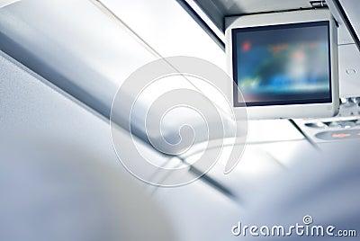Screen in an aeroplane