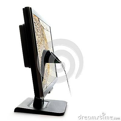 Screen fountain