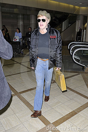 Screen Legend Robert Redford at LAX Editorial Stock Image