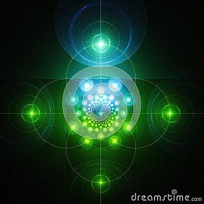 Free Screen Of Radar. Mysterious Glow. Royalty Free Stock Photo - 93820965