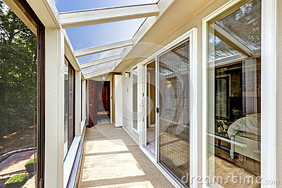 Screened deck with glass roof stock photo image 44581001 for Glass deck floor