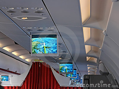 Screens in an Airplane