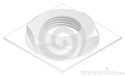 Abstract scheme  concept isometric projection  engineering graphics Engineering Graphics Isometric Projection