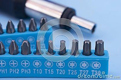 Screwdriver drill bits
