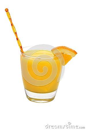 Screwdriver Drink, Orange Wedge, Swizzle Stick