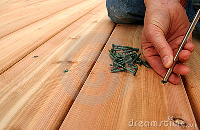 Screwing Decking