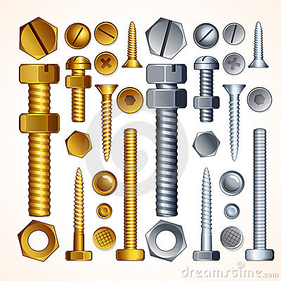 Free Screws, Bolts And Rivets Stock Photo - 21321040