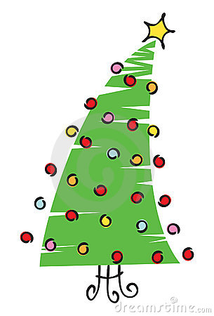 Scribble Christmas Tree Illustration