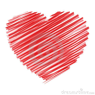 Free Scribble Heart Stock Image - 11848401