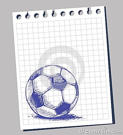 Scribble soccer ball