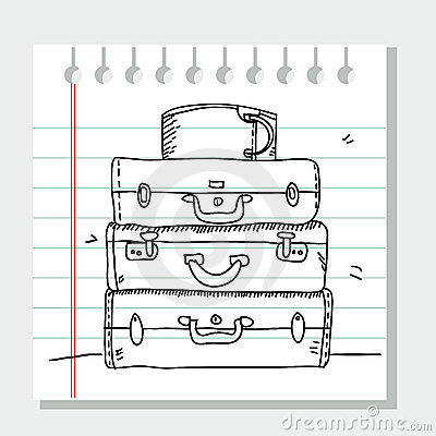 Scribble suitcases