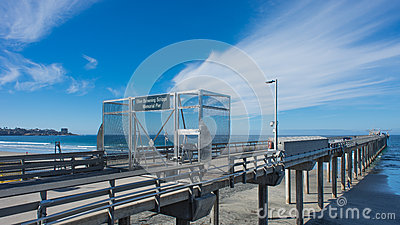 Scripps Research Pier Editorial Photography