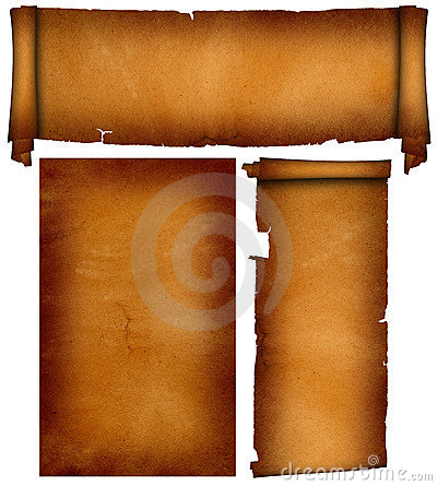 Free Scroll And Sheet Old Parchment. Royalty Free Stock Images - 17474099