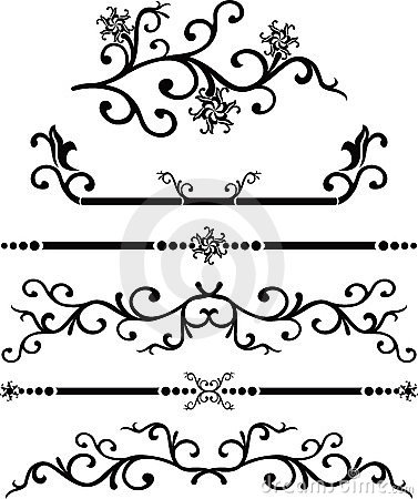 Free Scroll, Cartouche, Decor, Vector Royalty Free Stock Photo - 464805