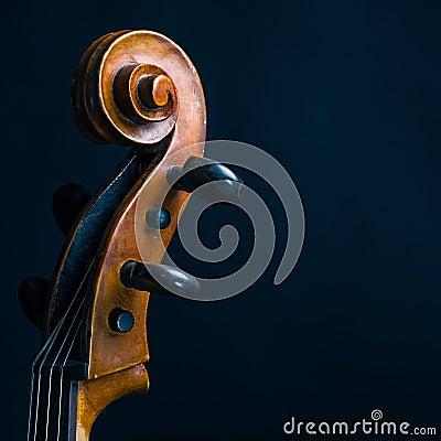 Free Scroll Cello Stock Image - 46901811