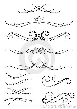 Scroll Design Elements Stock Photos - Image: 7573683